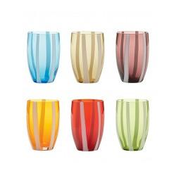 Gessato, Bicchiere confezione assortita 6 pezzi - Zafferano