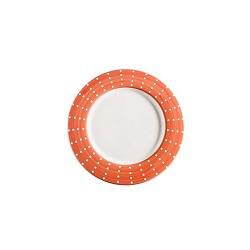 Perle, Piatto porcellana arancio - Zafferano