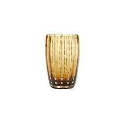 Perle, Bicchiere ambra - Zafferano