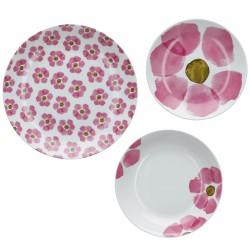 Gallipoli, Set tavola 18 pezzi - Rose & Tulipani
