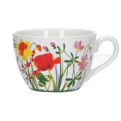 Flores, Tazza colazione 450 Cc., Cm. 11,5, h. 8,5 Cm. - Rose & Tulipani