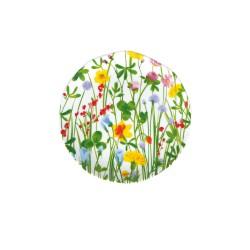 Flores, Piatto frutta Cm. 20, h. 2 Cm. - Rose & Tulipani