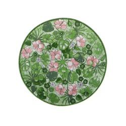 Aloha, Piatto piano verde Cm. 27,5, h. 2,5 Cm. - Rose & Tulipani