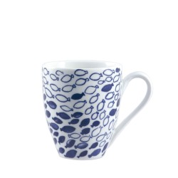 Blue, Mug fishes 420 Cc., Cm. 9,5, h. 11 Cm. - Rose & Tulipani