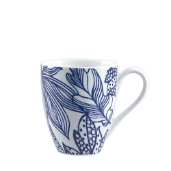 Blue, Mug leaves 420 Cc., Cm. 9,5, h. 11 Cm. - Rose & Tulipani