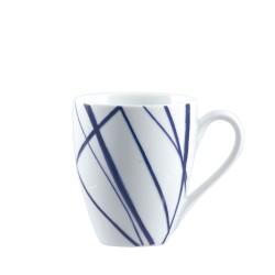 Blue, Mug lines 420 Cc., Cm. 9,5, h. 11 Cm. - Rose & Tulipani