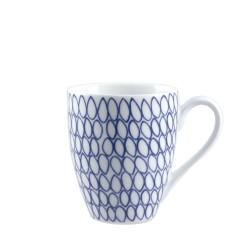 Blue, Mug net 420 Cc., Cm. 9,5, h. 11 Cm. - Rose & Tulipani