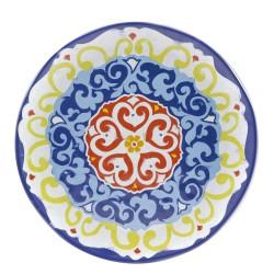 Nador, Vassoio rotondo melamina diametro Cm. 42, h. 2,5 Cm. - Rose & Tulipani
