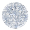 Blue, Vassoio rotondo melamina diametro Cm. 42, h. 2 Cm. - Rose & Tulipani