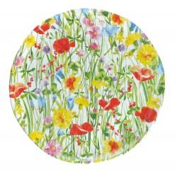 Flores, Vassoio rotondo melamina diametro Cm. 42, h. 2,5 Cm. - Rose & Tulipani