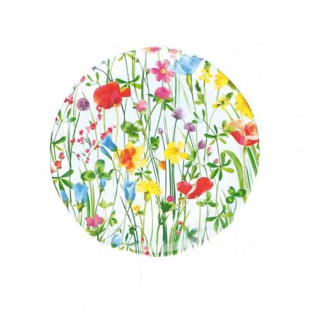 Flores, Vassoio rotondo melamina diametro Cm. 32, h. 2 Cm. - Rose & Tulipani