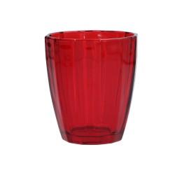Amami, Bicchiere rubino Cm. 8,5, h. 10 Cm. - Rose & Tulipani