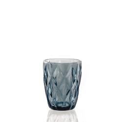 Blue diamond, Bicchiere 270 Cc., Cm. 8, h. 10 Cm. - Rose & Tulipani