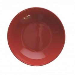 F&C red, Piatto fondo Cm. 19,5, h. 4,5 Cm. - Rose & Tulipani