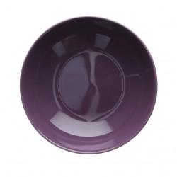 F&C violet, Piatto fondo Cm. 19,5, h. 4,5 Cm. - Rose & Tulipani