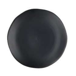 Noir, Vassoio rotondo nero opaco Cm. 30, h. 2,5 Cm. - Rose & Tulipani