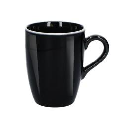 Noir, Mug nero lucido 350 Cc., Cm. 8,5, h. 11 Cm. - Rose & Tulipani