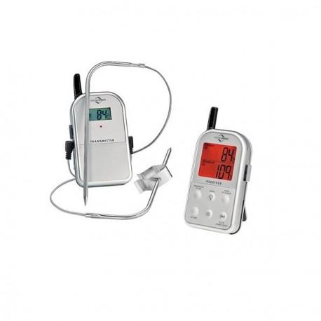 Termometro digitale per arrosti con doppia sonda e trasmissione radio - Kuchenprofi