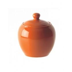 F&C orange, Zuccheriera con coperchio 300 Cc., Cm. 10, h. 12 Cm. - Rose & Tulipani