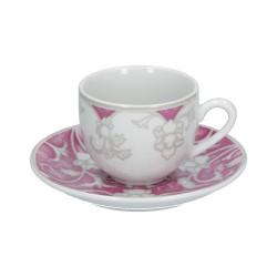 Taormina, Set caffe 6 pezzi - Rose & Tulipani