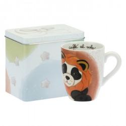 Mug Panda Leo con scatola in latta - Thun