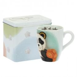 Mug Panda Scorpio con scatola in latta - Thun