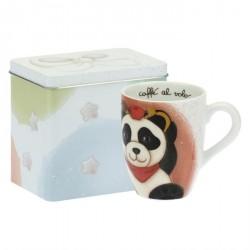 Mug Panda Sagittarius con scatola in latta - Thun