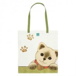 Shopper in tessuto con gatto - Thun