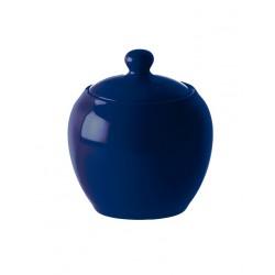 F&C blue, Zuccheriera con coperchio 300 Cc., Cm. 10, h. 12 Cm. - Rose & Tulipani