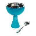Big love, Coppa per gelato blu, cucchiaino da gelato - Alessi