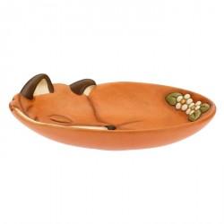 Centrotavola ovale sagomato in ceramica Bosco incantato - Thun