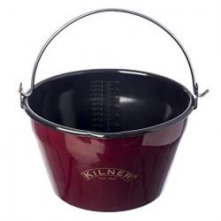 Pentola marmellata smalto rosso Lt. 8 - Kilner