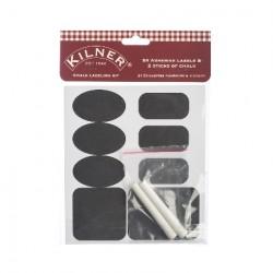 Confezione da 26 etichette scrivibili con gesso - Kilner