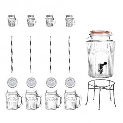 Set drink vintage con dispenser Lt. 5 - Kilner