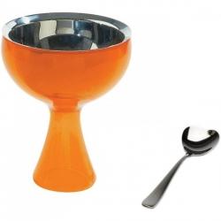 Big love, Coppa per gelato arancione, cucchiaino da gelato - Alessi