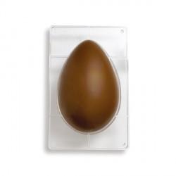 Stampo Uova di cioccolato in policarbonato 1 cavità da Gr. 350 - Decora