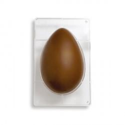Stampo Uova di cioccolato in policarbonato 1 cavità da Gr. 500 - Decora