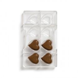 Stampo Cuore di cioccolato in policarbonato 8 cavità - Decora