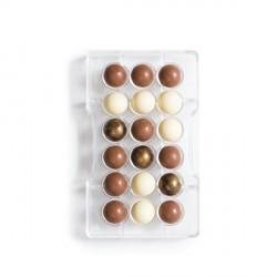 Stampo Mezza sfera di cioccolato in policarbonato 18 cavità - Decora