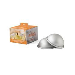 Confezione 3 stampi mezza sfera in alluminio anodizzato - Decora