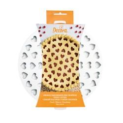 Griglia tagliapasta cuori per crostate Cm. 30 - Decora
