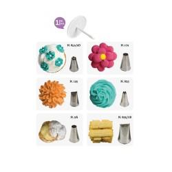 Kit decorazione pasticceria al cornetto 7 pezzi - Decora