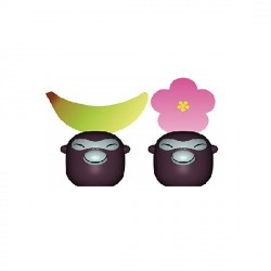 Banana Babies, Set di due segnaposto - Alessi