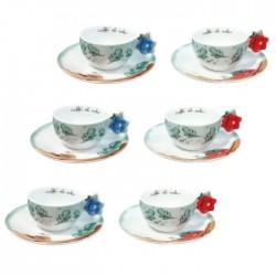 Set 6 tazzine espresso Preludio d'inverno - Thun