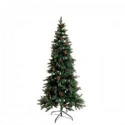 Gli alberi di Natale, Albero piccolo verde con pigne 110 leds - L'oca Nera