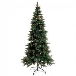 Gli alberi di Natale, Albero grande verde con pigne 370 leds - L'oca Nera