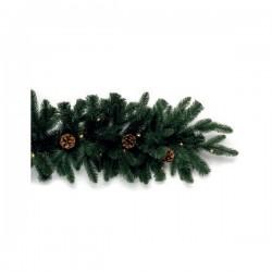 I festoni di Natale, Festone piccolo verde con pigne 20 leds - L'oca Nera