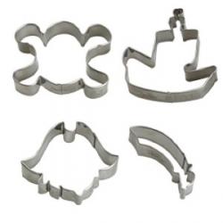 Tagliabiscotti pirati 4 pezzi da cm. 6,5 a 8x2 h. - Decora