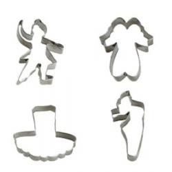 Tagliabiscotti ballerina 4 pezzi da cm. 7 a 8x2 h. - Decora