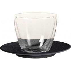 Manufacture Rock Tazza caffe latte con Piatto 2 pezzi - Villeroy & Boch